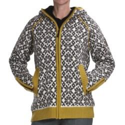 Icewear Helga Hooded Sweater Jacket - New Wool (For Women) in Limeade