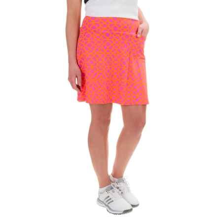 Icikuls Lattice Flip Skort - UPF 50 (For Women) in Pink/Orange - Closeouts