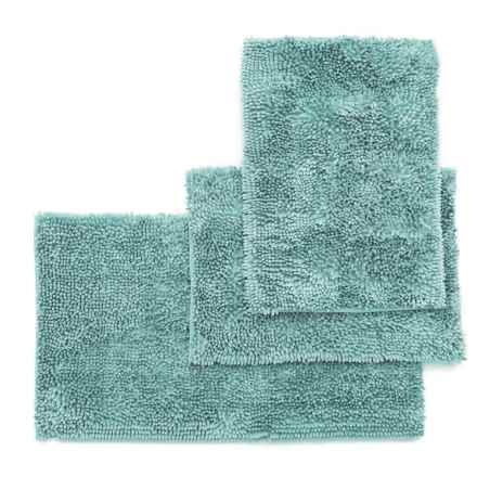 Ideal Home Regal Butter Chenille Bath Mat Set - 3-Piece, Aqua in Aqua - Closeouts