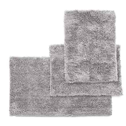 Ideal Home Regal Butter Chenille Bath Mat Set - 3-Piece, Light Grey in Light Grey - Closeouts