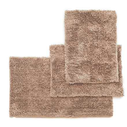 Ideal Home Regal Butter Chenille Bath Mat Set - 3-Piece, Linen in Linen - Closeouts