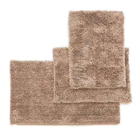 Ideal Home Regal Butter Chenille Bath Mat Set - 3-Piece, Linen in Linen