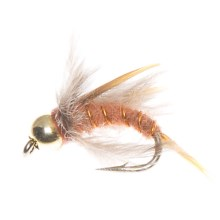 Idylwilde Flies Beadhead Queen Prince Nymph Fly - Dozen in Natural - Closeouts