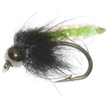 Idylwilde Flies Mangy Pooper Beadhead Nymph Fly - Dozen in Bright Green - Closeouts