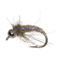 Idylwilde Flies Silvey's Crane Fly Larva Beadhead Nymph Fly - Dozen in Asst - Closeouts