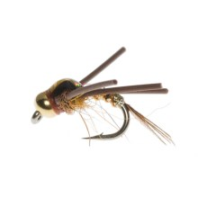 Idylwilde Flies Spitfire Bead Head Nymph Fly - Dozen in Gold - Closeouts