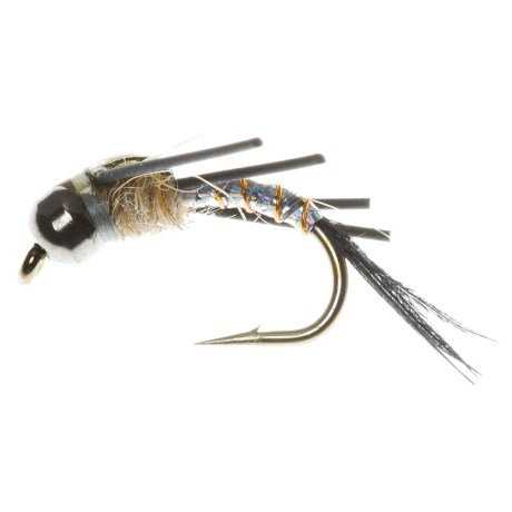 Idylwilde Flies Spitfire Bead Head Nymph Fly - Dozen in Silver