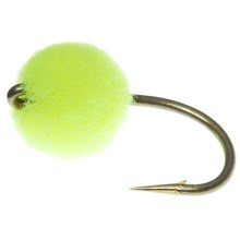 Idywilde Flies Egg Fly - Dozen in Chartreuse/Orange Dot - Closeouts