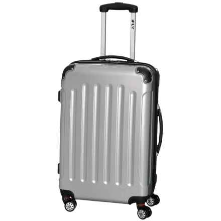 "iFly 20"" Carbon Racing Carry-On Spinner Suitcase - Hardside in Silver - Closeouts"