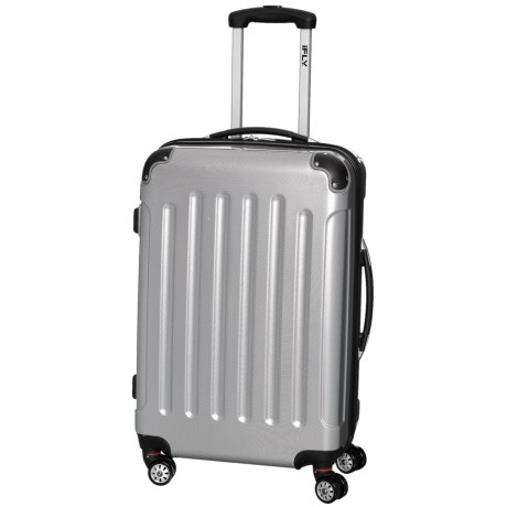 "iFly 20"" Carbon Racing Carry-On Spinner Suitcase - Hardside in Silver"