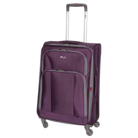 """iFly 20"""" Passion Carry-On Spinner Suitcase - Expandable in Purple - Closeouts"""