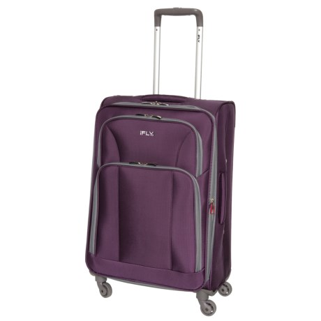 "iFly 20"" Passion Carry-On Spinner Suitcase - Expandable in Purple"
