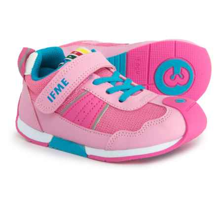 IFME Racer Sneakers (For Girls) in Pink/Lt. Blue - Closeouts