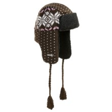 Igloos Aviator Hat - Jacquard Knit (For Men and Women) in Chocolate - Closeouts