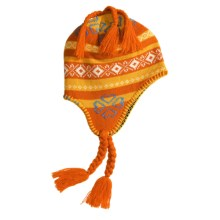 Igloos Clover Knit Hat - Fleece-Lined  (For Women) in Orange/White/Blue - Closeouts