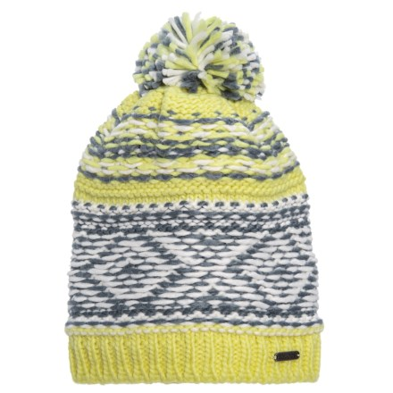 77bf1acca4 Igloos Pattern Knit Beanie with Pompom (For Big Girls) in Charlock -  Closeouts