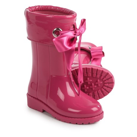Igor Campera Charol Bow Tie Fuchsia Rain Boots - Waterproof (For Little and Big Girls) in Fuchsia