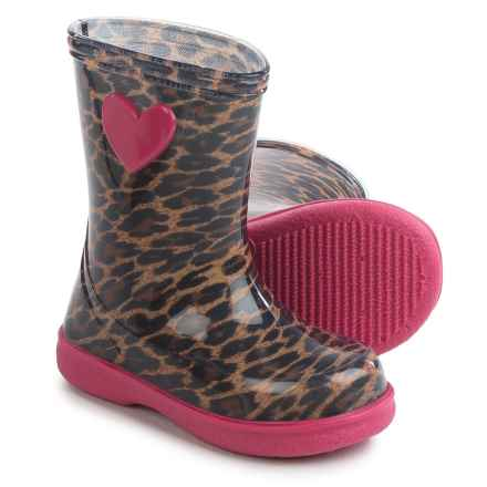 Igor Pipo Leo Printed Rain Boots - Waterproof (For Little and Big Girls) in Fuchsia Leo - Closeouts