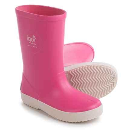 Igor Splash Nautico Rain Boots - Waterproof (For Little and Big Girls) in Fuchsia - Closeouts