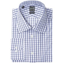 Ike Behar Black Label Check Dress Shirt - Long Sleeve (For Men) in Blueberry - Closeouts
