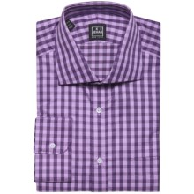 Ike Behar Black Label Check Dress Shirt - Long Sleeve (For Men) in Eggplant - Closeouts