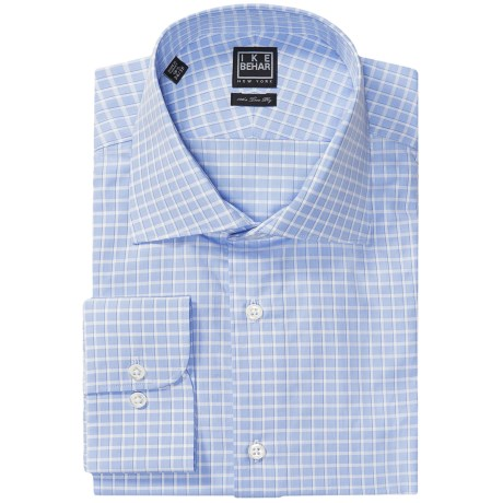 Ike Behar Black Label Check Dress Shirt - Long Sleeve (For Men) in Mist