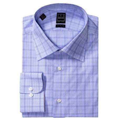 Ike Behar Black Label Check Dress Shirt - Long Sleeve (For Men) in Petrol Blue