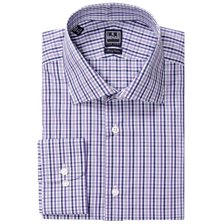 Ike Behar Black Label Check Dress Shirt - Long Sleeve (For Men) in Pistachio