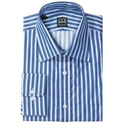 Ike Behar Black Label Cotton Shirt - Spread Collar, Long Sleeve (For Men) in Blue Pearl
