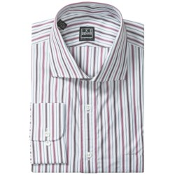 Ike Behar Black Label Cotton Shirt - Spread Collar, Long Sleeve (For Men) in Forest Berry