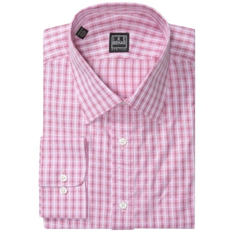 Ike Behar Black Label Cotton Shirt - Spread Collar, Long Sleeve (For Men) in Guava