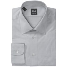 Ike Behar Black Label Cotton Shirt - Spread Collar, Long Sleeve (For Men) in Pearl Grey - Closeouts