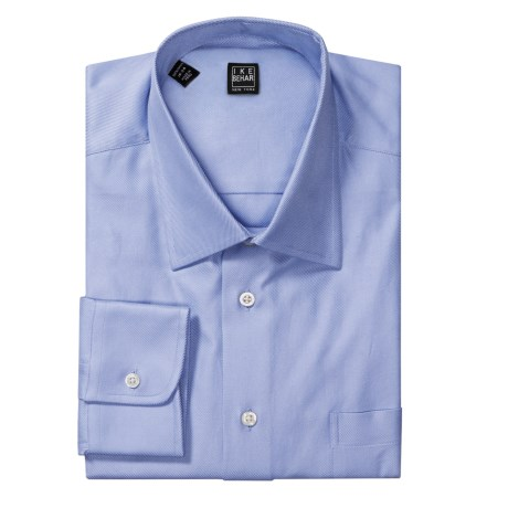 Ike Behar Black Label Cotton Twill Dress Shirt - Standard Fit, Long Sleeve (For Men) in Indigo