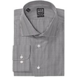 Ike Behar Black Label Glen Plaid Dress Shirt - Long Sleeve (For Men) in Grey Chrome