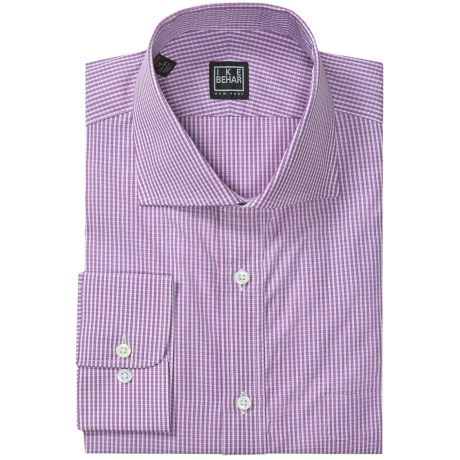 Ike Behar Black Label Mini Check Dress Shirt - Long Sleeve (For Men) in Concord