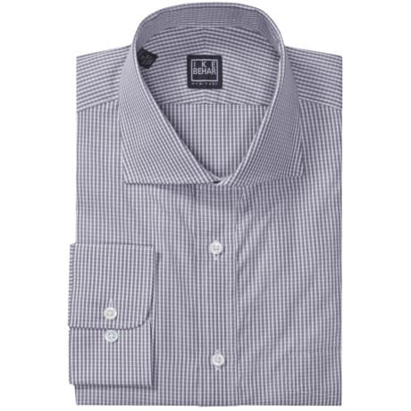 Ike Behar Black Label Mini Check Dress Shirt - Long Sleeve (For Men) in Morning Rain