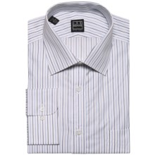 Ike Behar Black Label Rope Stripe Dress Shirt - Long Sleeve (For Men) in Empire Blue - Closeouts