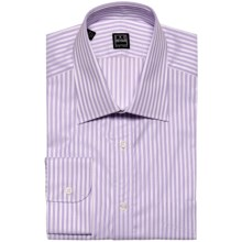 Ike Behar Black Label Stripe Spread Collar Dress Shirt - Long Sleeve (For Men) in Concord - Closeouts