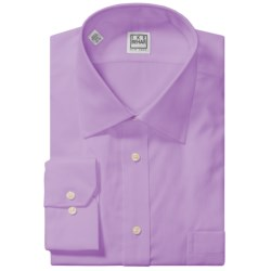 Ike Behar Black Label Textured Cotton Shirt - Long Sleeve (For Men) in Soft Lilac