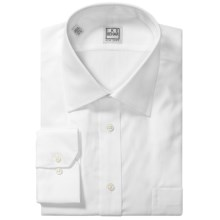Ike Behar Black Label Textured Cotton Shirt - Long Sleeve (For Men) in White - Closeouts