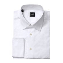 Ike Behar Cotton Dress Shirt - French Cuffs, Long Sleeve (For Men) in White - Closeouts
