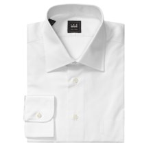 Ike Behar Cotton Dress Shirt - Spread Collar, Long Sleeve (For Men) in White - Closeouts