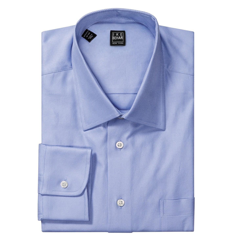 ike behar black label cotton twill dress shirt standard