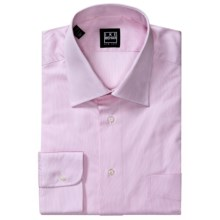 Ike Behar Fine Line Dress Shirt - Spread Collar, Long Sleeve (For Men) in Pink Glaze - Closeouts