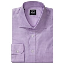 Ike Behar Glen Plaid Dress Shirt - Long Sleeve (For Men) in Iris - Closeouts