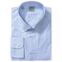 Ike Behar Gold Label Cotton Check Shirt - Long Sleeve (For Men) in Blue Horizon - Closeouts