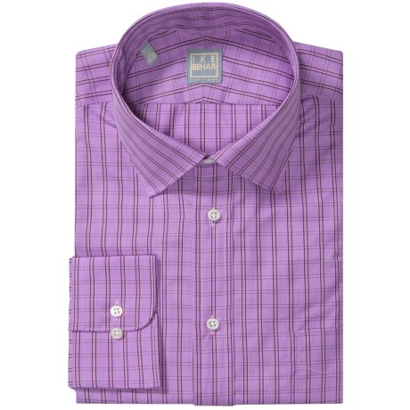 Ike Behar Gold Label Cotton Check Shirt - Long Sleeve (For Men) in Royalty