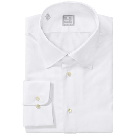 Ike Behar Gold Label Cotton Spread Solid Shirt - Long Sleeve (For Men) in White