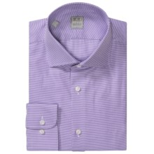 Ike Behar Gold Label Multi-Check Dress Shirt - Long Sleeve (For Men) in Purple/White Houndstooth - Closeouts