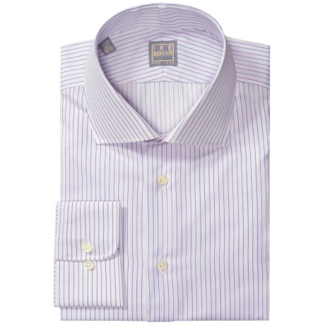 Ike Behar Gold Label Stripe Shirt - Long Sleeve (For Men) in Tulip